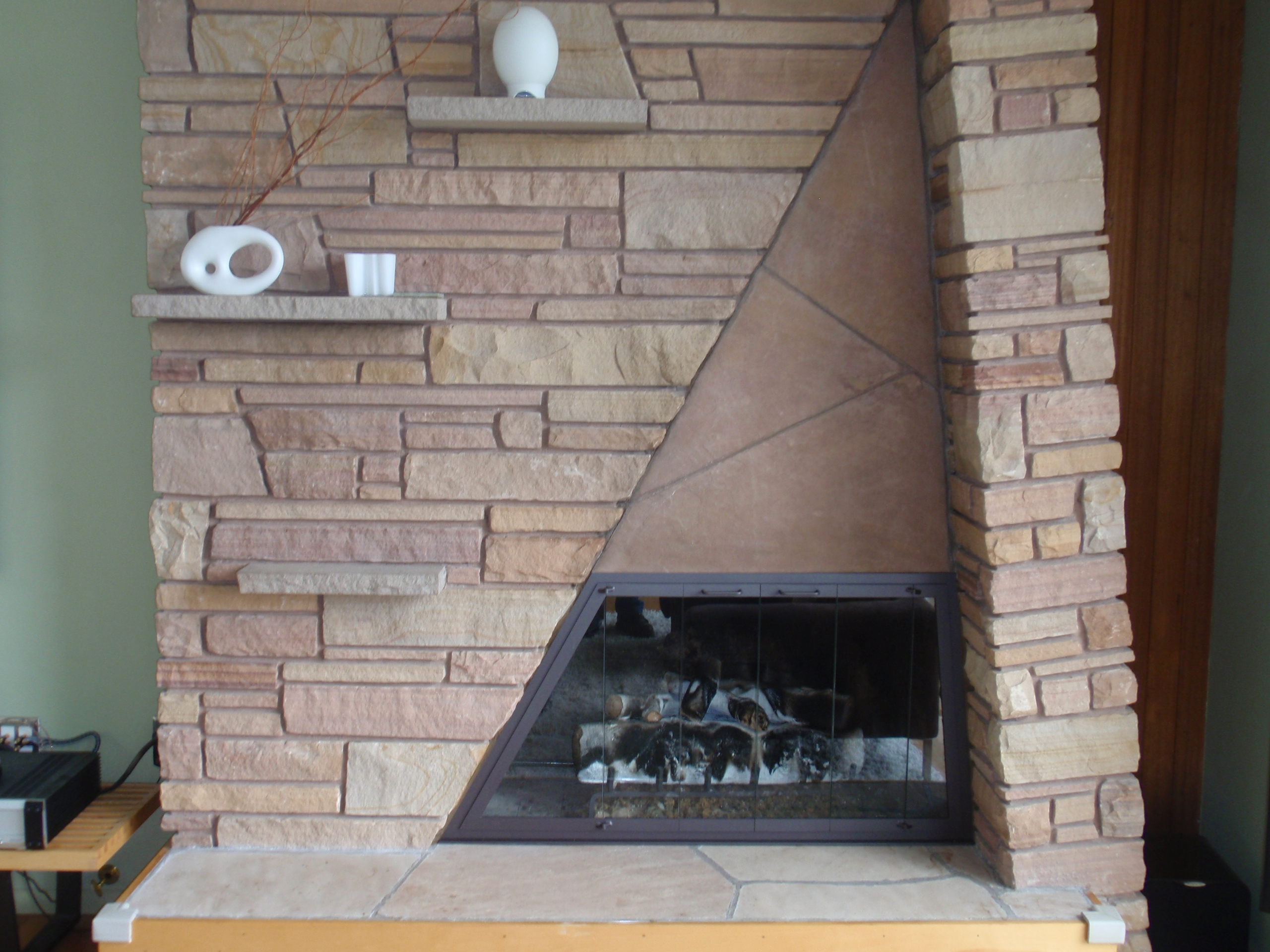 Unusually Shaped  Fireplace Gallery Icon