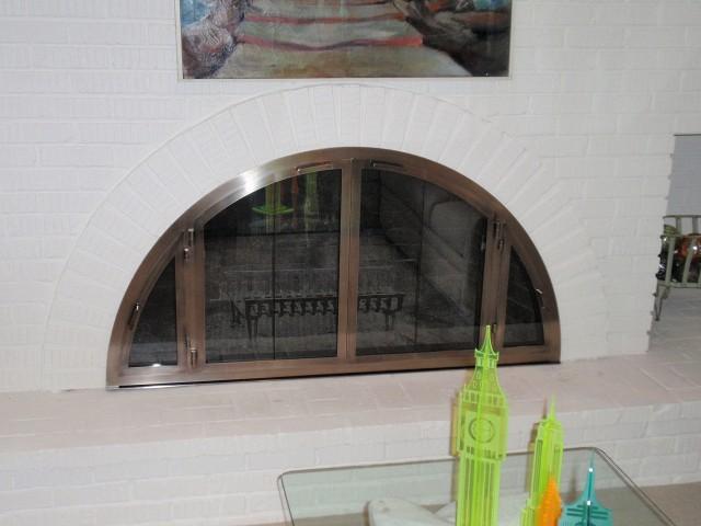 Fireplace Glass Doors And Screens Custom Handcrafted Fireplace Doors