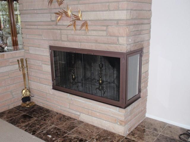fireplace glass doors and screens custom handcrafted fireplace doors rh jerryco com corner fireplace screens and doors custom corner fireplace screens
